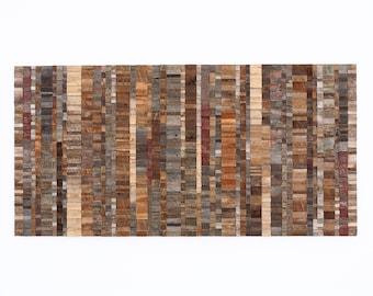 WAVELENGTH, abstract reclaimed wood wall art, large wall art, wood artwork, wall hanging