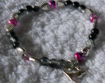 Bracelet with cat charm