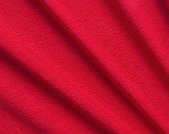 Micro Modal Spandex Jersey Knit Fabric Lipstick (red)
