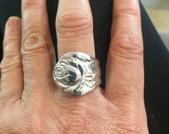 Vintage Spoon Ring, size 9- Rosedale , circa year 1913