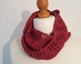 Cinnamon Scarf - Crochet Bamboo Infinity Scarf - Ready to ship