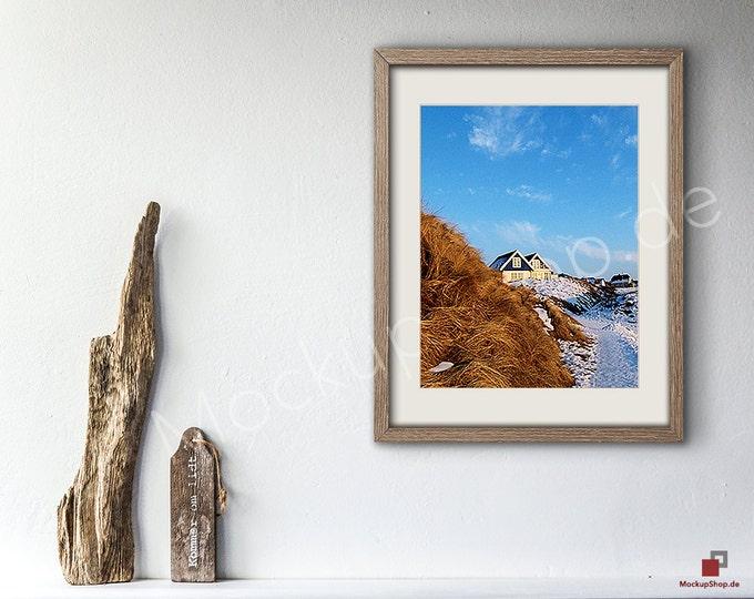 11x14 OLD WOOD FRAME Mockup Scene Smart Object / Set of 3 Scene / photo frame mockup scene creator / shabby wood vintage frame / vertical