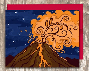 I Lava You \ Volcano \ Valentines Day \ Anniversary \ Love Card