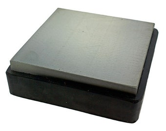 """Steel Bench Block with Removable Rubber Base 3-7/8"""" x 3-7/8"""" (AN545)"""