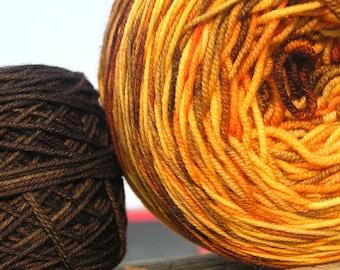 Sport Weight Yarn - Custom Dyed Shawl Yarn - Ember