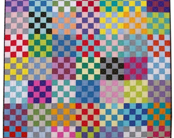 Be Squared Quilt Pattern (pdf file) - Immediate Download
