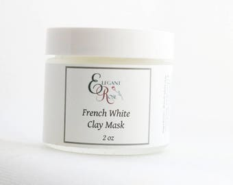 French White Clay Mask - Hydrating Clay Mask - Facial Mask - Face Mask - Dry Skin Mask