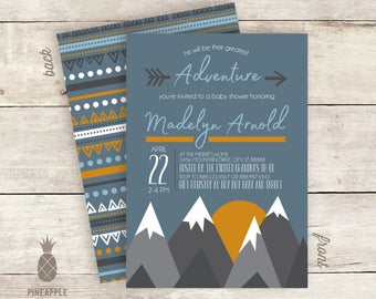 Greatest Adventure Baby Shower Invitations