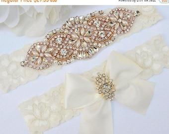 ON SALE Wedding Garter Set,Ivory Wedding Garter, Ivory Bridal Garter, Ivory Garter Vintage, Wedding Garter Vintage, Ivory Lace Garter, Pearl