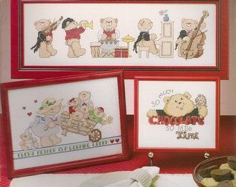Cross Stitch Patterns,Donna Kooler Designs Bears,Cross Stitch Bear Patterns,Panda Bear Cross Stitch,Musical Bears Patterns,Teddy Bears