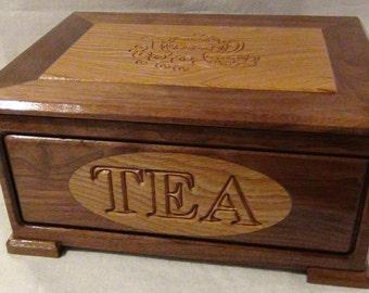 Tea Storage, Tea Box, Christmas Gift, Birthday Gift