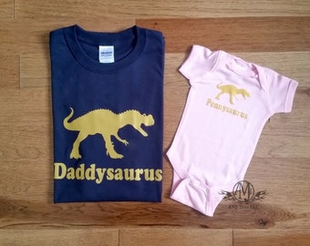 Daddy and daughter shirts, matching shirts, father and daughter shirts, dinosaur shirt, fathers day, new dad gift, gifts for dad