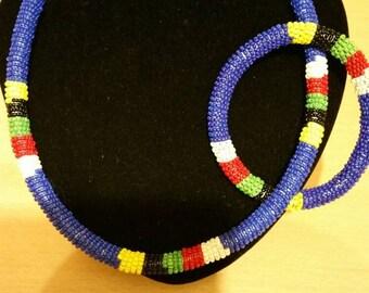Zulu choker & bracelet
