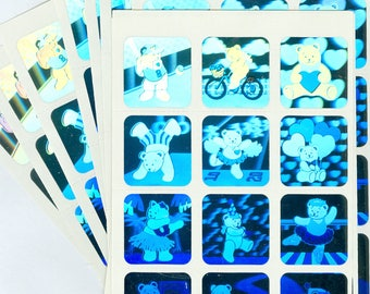 50 Sheets Holographic Teddy Bear Stickers