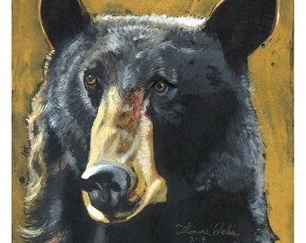 Blueberry (Fine Art Print not a real Black Bear)