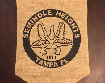 Seminole Heights garden flag