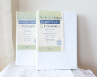 Set of two 5X7 inch canvases, small canvases, artist canvas, stretched canvas