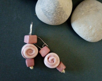 Rose Ceramic Earrings