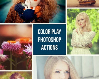 20 Photoshop Actions - Color Play