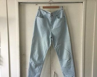 Light blue gingham high waisted pants