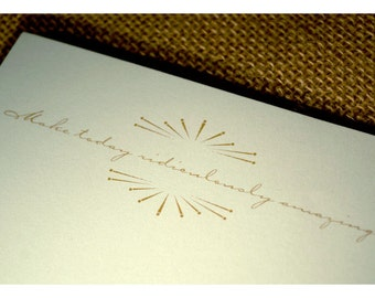 Quote Notepad - Motivational Quote with Sunburst Graphic Notepad - Personal Note Pad - Vintage Graphic Notepad - Notepad