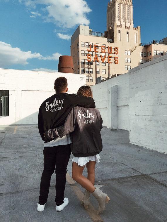 Custom Bomber Jacket | Mrs. Bomber Jacket | Groom Bomber Jacket | Wedding Custom Jacket