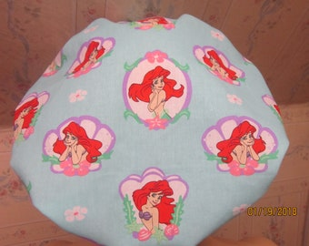 LITTLE MERMAID-- Bouffant  scrub hat /medical /surgical/ adjustable, has a comfort band