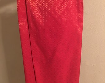ADULT Traditional Cambodian/Thai/Laos wrap around long skirt with Sash
