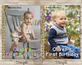 Little Book First Birthday Digital Invitation