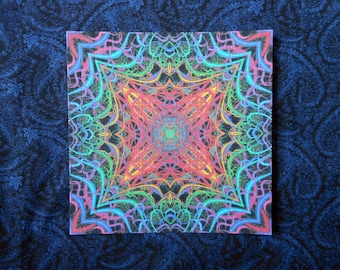 "Blotter Art ""Pulse Energy"" Perforated Psychedelic Collection Paper Acid Art"