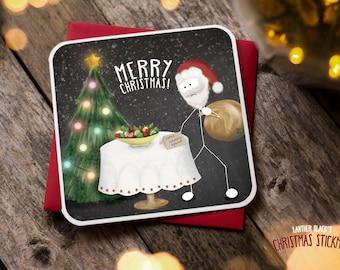 Funny Christmas Card / Christmas Card / Funny Holiday Card / Funny Cards / Funny Christmas / Funny Santa Card / Healthy Option / XS03