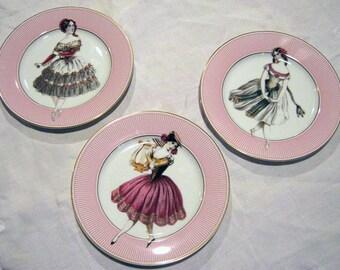 Collectible Ballerina Dessert Plates