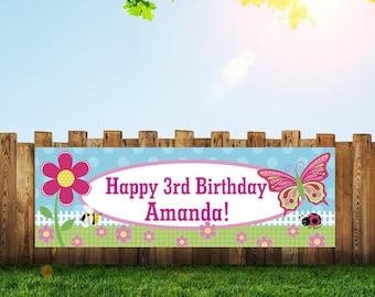 Butterfly Banner,Butterfly Birthday,Birthday Banner,Butterfly,Butterfly Garland