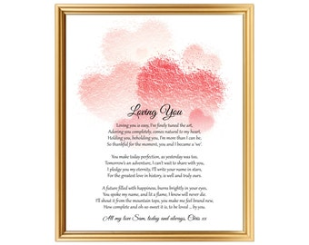Gift for valentines day birthday anniversary personalized poem