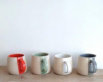 Colour-stripe mugs