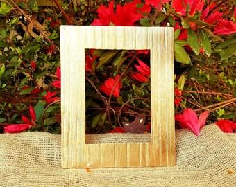 Metallic gold , cast iron open frame, empty frame, gold picture frame, gallery wall, wedding decor, nursery decor