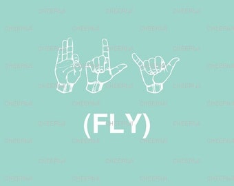 Sign Language Wall Art - FLY Matted Print