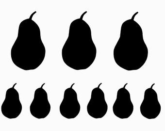 Stencil - Paint & Craft Stencil - Fiber Art Stencil - Pears - Fruit - Fabric Painting Stencil - Home Decor Stencil - Fertility Symbol