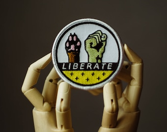 Liberation Patch | Sew on | Embroidery | Patches for Jackets | Equality Patch | Animal Liberation Patch | Vegan Patch | Back Patch | Custom