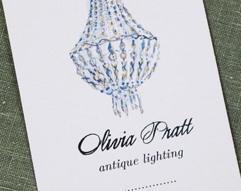 Personalized business card with Chandelier, Set of 50
