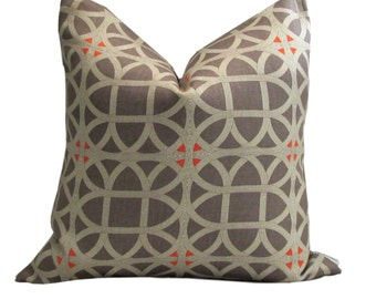Williamsburg Collection Lamerie Lattice Persimmon Pillow Cover