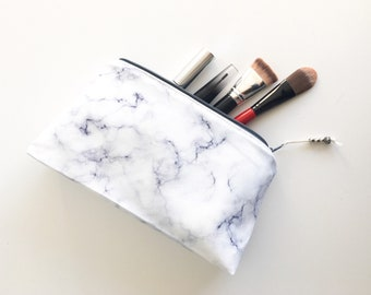 Bridesmaid gift Gift for her Gifts for mom Best friend gift Makeup bag Pencil case Marble Make up bag Best friend gift Birthday gift