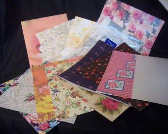 Vintage Floral Wrapping Paper lot