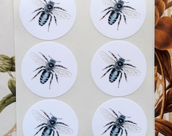 Bee Stickers Envelope Seals Party Favor Wedding Treat Bag Sticker SP043