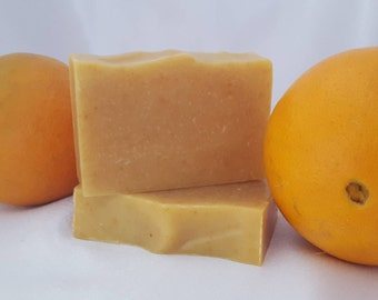 All Natural Handmade Soap with Orange & Lemon Zest
