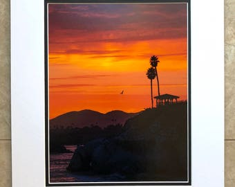 Pismo Beach Sunset - Pismo Beach, California. 11x14 giclée print, hand matted and signed on 16x20