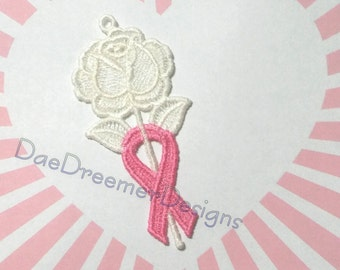 Rose Lace Breast Cancer ornament