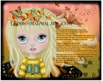 8x10 Butterfly Kaddish Art Print
