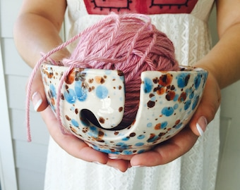 Ceramic Yarn Bowl | Knitting | Yarn Bowl | Pottery | Gift for knitters | handmade in my Charleston, SC studio