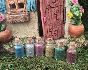 Miniature Jars of Fairy / Pixie Dust - Set of 6